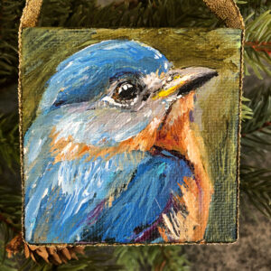 Mini Blue Bird Ornament