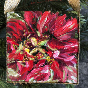 "Mini Poinsettia ""Winter Rose"" Ornament"