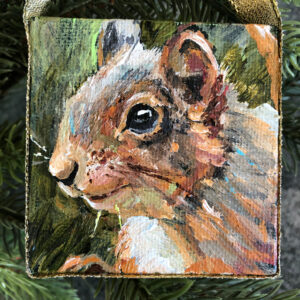 Mini Squirrel Profile Ornament