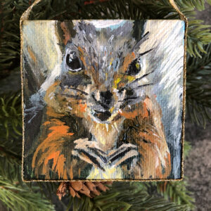Mini Squirrel Ornament