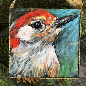 Mini Woodpecker Ornament