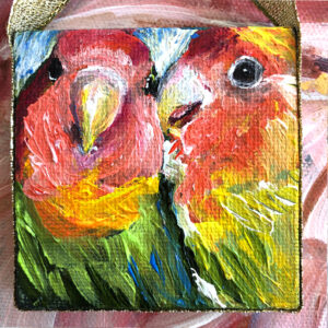 Yellow & Pink Love Birds Mini