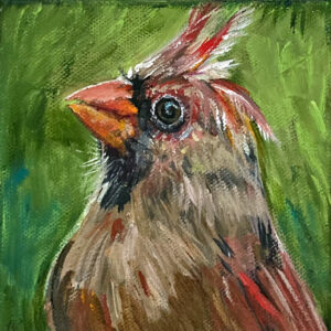 Into The Garden Collection Mini Mrs. Big Red Cardinal